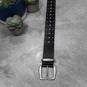 Nine West Studded Black Genuine Leather Belt, Sz L
